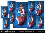 Lady Mad Hatter Pack 10 by mizzd-stock