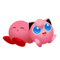 Kirby and Jigglypuff by Rosa-Mystical
