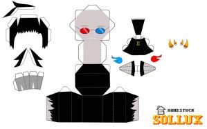 Homestuck Papercraft: Sollux by Kesshoukei