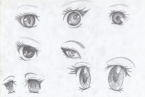 Eye practice by ZombieChocolate