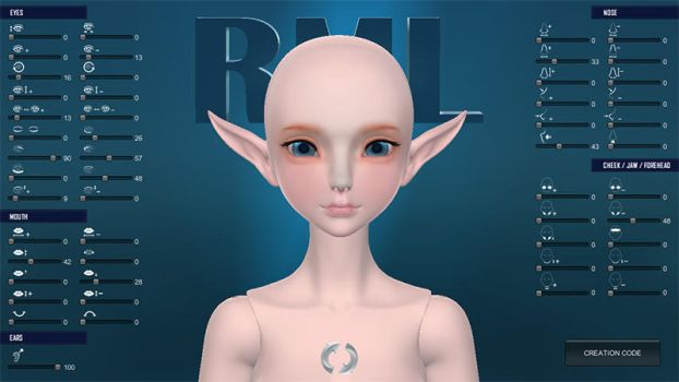 -3D FACEMAKER- What is your favorite face? by RMLBJD