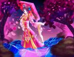 The dance of the petals. by Aruhie