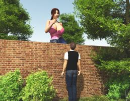 Vue 79:  Flirting with the tall neighbour.... by nyom87