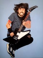 Dave Grohl - Traditional Painting on canvas (40.5c by DeceptiveAlias