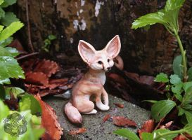 Sculpture: Fennec Fox by dakazi