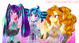Triple Baka - Dazzlings by Zorbitas