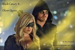 Black Canary and Oliver Queen by MrsCromwell