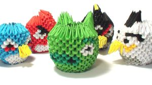 3D origami angry birds by Girnelis