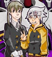 Soul and Maka by kyokips