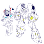 .:Grimlock and Bumblebee:. by JACKSPICERCHASE