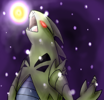 Shadow Tyranitar by Fire-Girl872