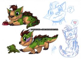Crocadog Love by KeyshaKitty