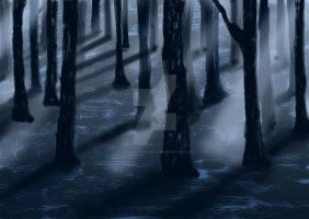 Artwork of a forest by CarnivalOfVanity