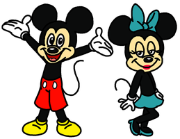 Mickey and Minnie Mouse by tellywebtoons