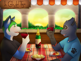 Dinner in Italy by mytigertail