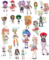 Unsold Adopts #3: Discounts: 15/22 OPEN by ObsceneBarbie