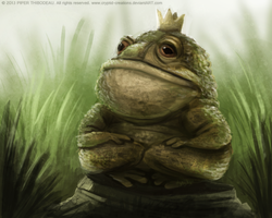 DAY 240. Toad King by Cryptid-Creations