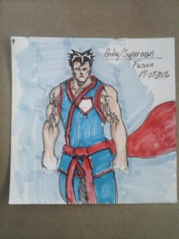 Goku / Superman Fusion concept Cam02116 by LordFirekaze