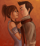 Makorra Getting Close by panda101324