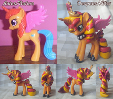 Princess Sunset Shimmer Custom by Kiddysa-NekoVamp