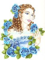 Blue Roses by JLDragonfly
