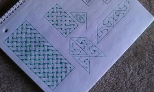 Celtic knot tests for upcoming mandala by meathive