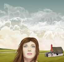Girl and clouds by Joya-Filomena