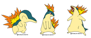 Cyndaquil-Quiava-Typhlosion bases by moonlite-adopts
