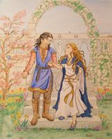 Faramir and Eowyn by palantiriel