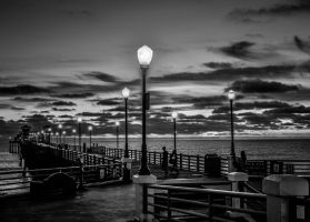 Night at the Pier by Nathan-Ruby