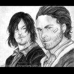 Daryl Dixon and Rick Grimes by zelldinchit