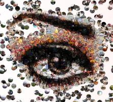 Eye photo mosaic by Mosaikify