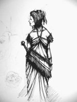 Woman in tall dress by Creative-Games