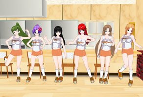 Tsumayouji girls Hooters Outfit by quamp