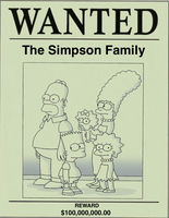 The Simpsons Wanted Poster by darthraner83