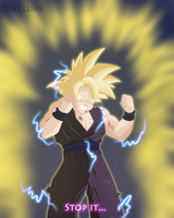 Stop it... Son Gohan passed super sayan 2 by Meeldin