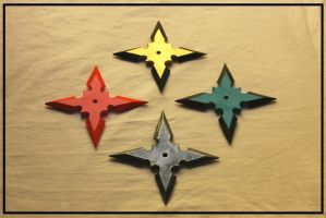 Shuriken (Ninja Throwing Stars) by Sephiroths-Shadow