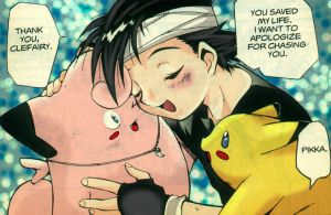 adorable Clefairy+Ash+pikachu by gummypocky