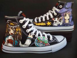 Custom Shoes The Melancholy of Haruhi Suzumiya by rachelliles352