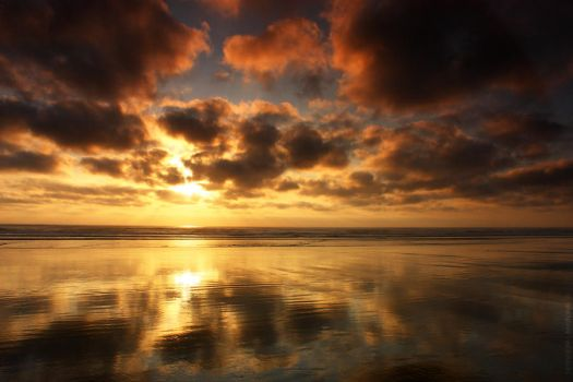 Cannon Beach - Reflections by pyro303