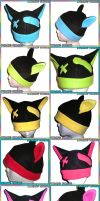 A Rainbow of Kitty Hats by AnimeNomNoms