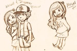 Dipper and Mabel by soccrluvr22509
