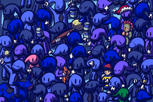 Cobalt Crowd by Bluwiikoon