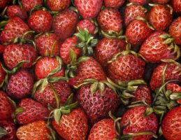 Strawberries oil painting by belka10