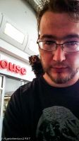 selfie with a monkey by Hyperborean1987