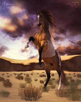 Wild Mustang of the West by RavenMoonDesigns