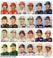 Formula 1 2012 line-up by forskuggad