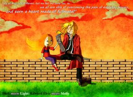 Dark meets Light: Edward Elric meets Molly by mickeyelric11