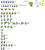 Drake revamped sprite sheet by Raventh1245