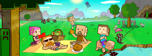 Minecraft Picnic by zson
